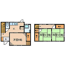 [一戸建] 神奈川県藤沢市宮前 の賃貸【/】の間取り