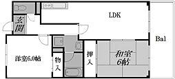 大阪府堺市西区浜寺石津町中1丁の賃貸マンションの間取り