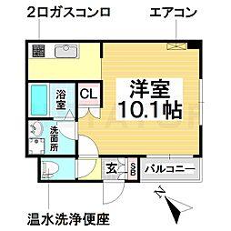 愛知県名古屋市南区粕畠町1丁目の賃貸アパートの間取り