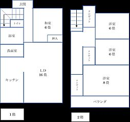[一戸建] 京都府京田辺市大住大坪 の賃貸【/】の間取り