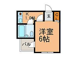 パラツオ姫島[1C号室号室]の間取り