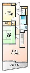 HAPPINESS743[2階]の間取り