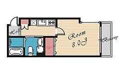 ベリーウェル都島II[203号室号室]の間取り