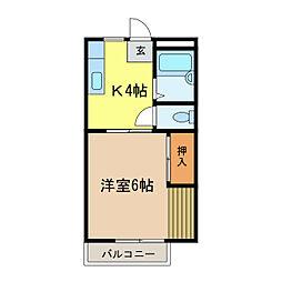 レガシィ千代田I[101号室]の間取り