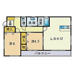 KM HOUSE[101号室]の間取り