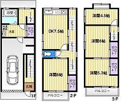 [一戸建] 大阪府大東市北条7丁目 の賃貸【/】の間取り