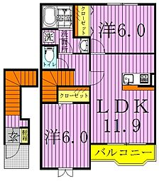 ソラティオーレ[2階]の間取り