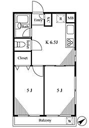 マック武蔵野コート[1階]の間取り