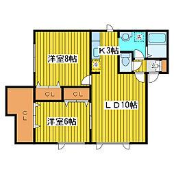 北海道札幌市東区北十条東17丁目の賃貸アパートの間取り