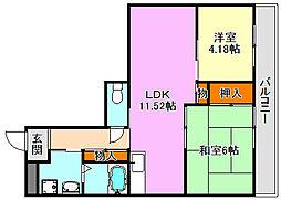 サムティ南多聞台[3階]の間取り