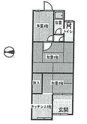 [テラスハウス] 兵庫県尼崎市大庄西町3丁目 の賃貸【/】の間取り