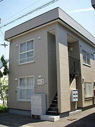 北海道札幌市北区麻生町2丁目の賃貸アパートの外観