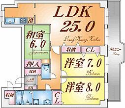 ライオンズマンション須磨妙法寺[205号室]の間取り