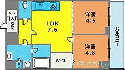 ロイヤルヒル神戸三ノ宮2[8階]の間取り