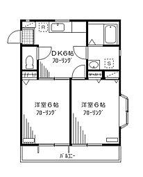 フレグランスミツシ[2階]の間取り
