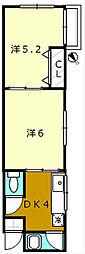 堺ハイツ[205号室]の間取り