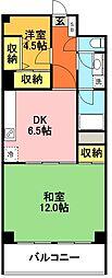 ハイネス富士見ヶ丘[602号室]の間取り