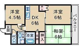 パークサイド田中2号館[203号室]の間取り