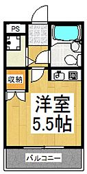 メゾンユキ[2階]の間取り