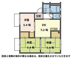 カルムイザワ 3[2階]の間取り