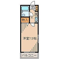 メゾンロワール横浜[201号室]の間取り