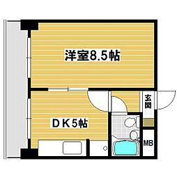 第一栄ビル[302号室]の間取り