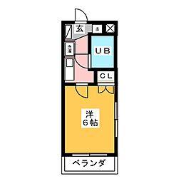 オラシオン音羽町[1階]の間取り