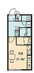 レオパレスYAO[1階]の間取り