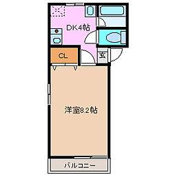 IMAZUハイツ田宮[102号室号室]の間取り