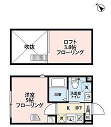 京王井の頭線 下北沢駅 徒歩9分の賃貸アパート 3階1Kの間取り