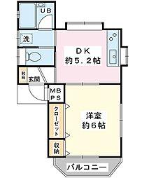 ドミール・KS[3階]の間取り