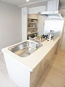 人気のカウンターキッチン(食洗機付き、浄水器一体型水栓付き)