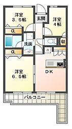 ライオンズマンション京成大久保[5階]の間取り