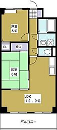 福本ハーバービュースクエア[5階]の間取り
