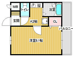 トレイズII[3階]の間取り