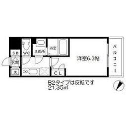 エスリード梅田グランノース[3階]の間取り