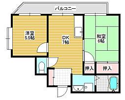 ロイヤル香ヶ丘[3階]の間取り