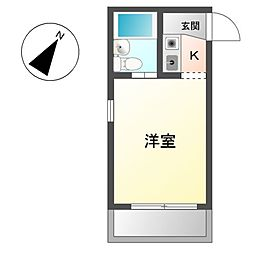 愛知県豊明市二村台4丁目の賃貸マンションの間取り