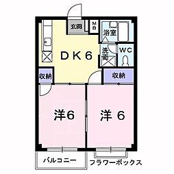 エルデムコーヨーB[2階]の間取り