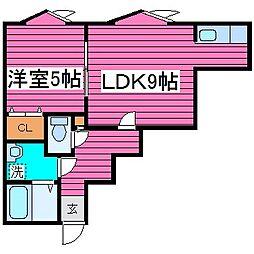北海道札幌市東区北三十七条東14丁目の賃貸アパートの間取り