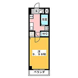 アーバンシティ西桜木[6階]の間取り