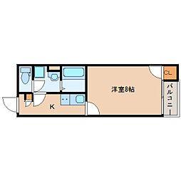 奈良県香芝市五位堂の賃貸アパートの間取り