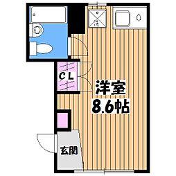 メゾンジュネス[1階]の間取り