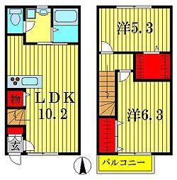 [テラスハウス] 埼玉県八潮市古新田 の賃貸【/】の間取り
