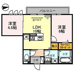 仮)D-room沢田2丁目[202号室号室]の間取り