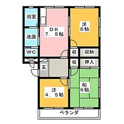 ナカシマハイツ[2階]の間取り