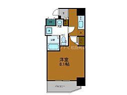 Osaka Metro中央線 堺筋本町駅 徒歩4分の賃貸マンション 2階1Kの間取り