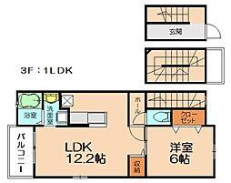 Urara2 3階1LDKの間取り