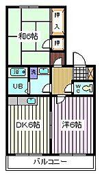 埼玉県戸田市笹目4丁目の賃貸マンションの間取り