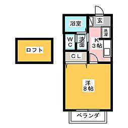 セジュール内山[2階]の間取り